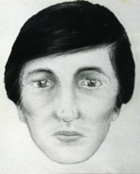 """1989 television image on Crimewatch UK of the """"butty man"""" wanted in connection with the murder. Published EG 13/01/1989, EG 06/11/1989"""