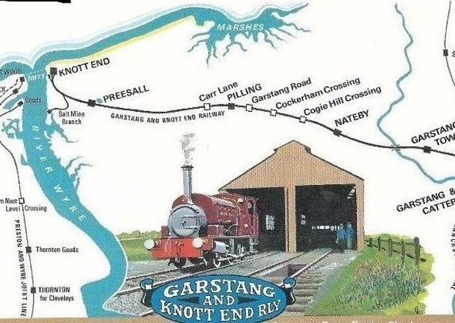 Postcards depicting the original route of the Garstang rail line through rural Wyre