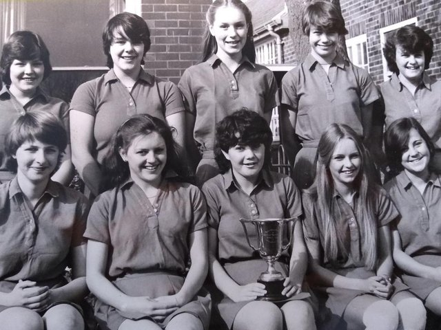 Hodgson High School under 16s basketball team. Seated from left: R Colling, A Martin, P Munro, I Ogden, I Wilkinson. Standing: J Hoyle, R Wikeley, M Shuttleworth, M Jackson and J Ogden