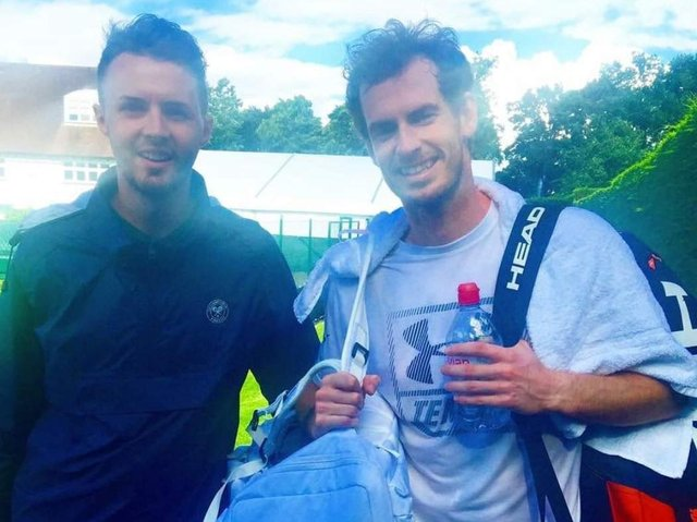 Michael Cartmell meets Andy Murray at Wimbledon