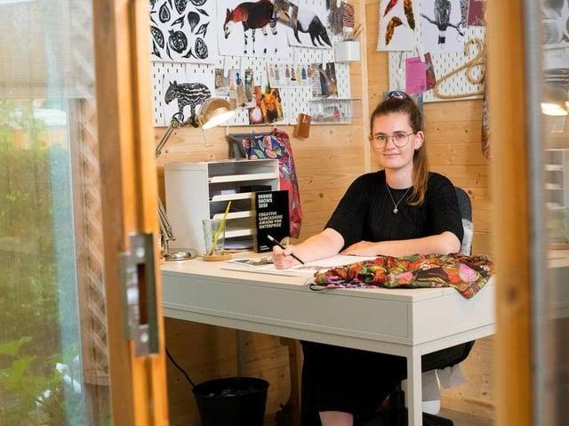 Jessica Kirkpatrick at work in her studio
