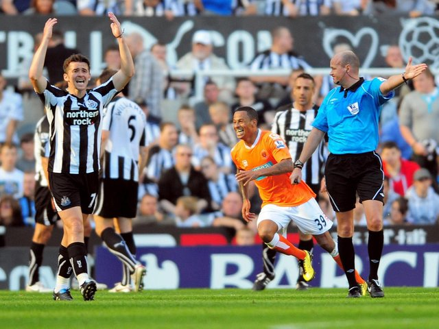 DJ Campbell seals Blackpool's win at Newcastle a decade ago, though Joey Barton was not impressed