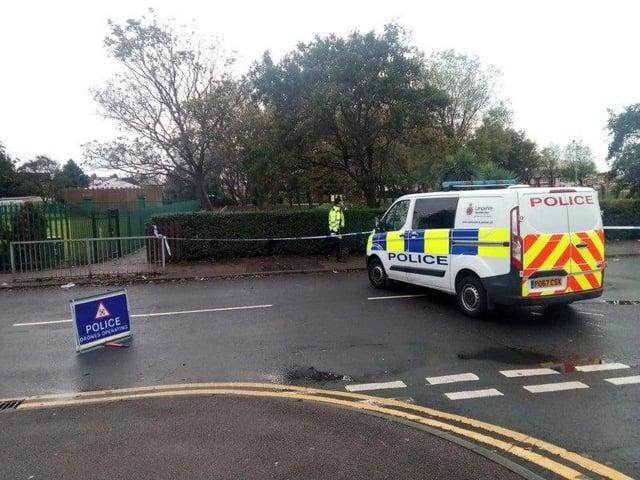 Police sealed off the scene
