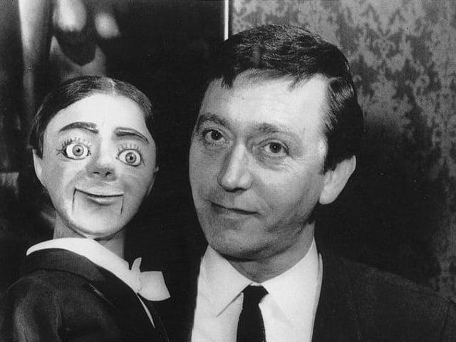 Arthur Worsley and his dummy Charlie