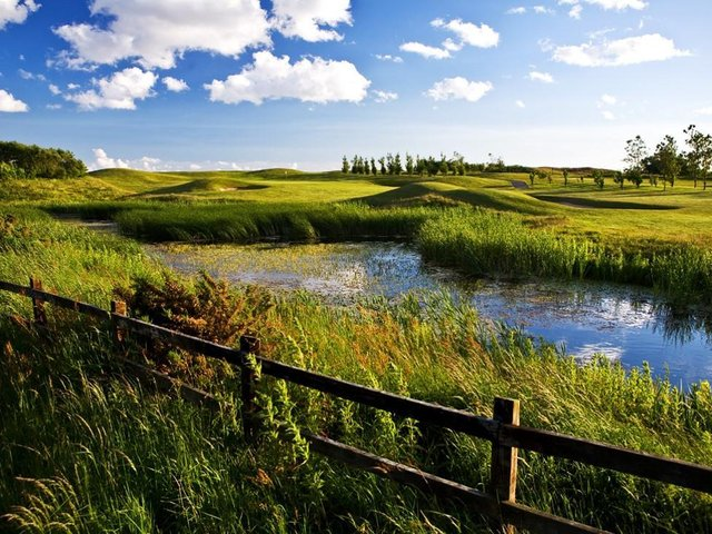 Overlooking the 13th at Herons' Reach, co-designed by Peter Alliss