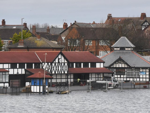 The restoration of the heritage buildings at Fairhaven Lake is a key part of the project