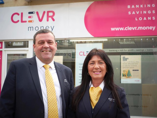 CLEVR Money's Anthony Brookes and Jackie Colebourne