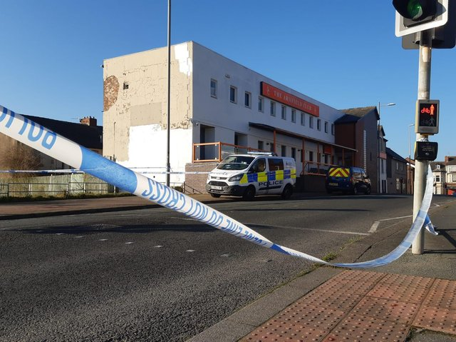 Two men have been arrested after a 19-year-old was found stabbed in Bloomfield Road last night (Sunday, February 28)