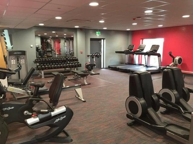 Gym equipment at Garstang YMCA.