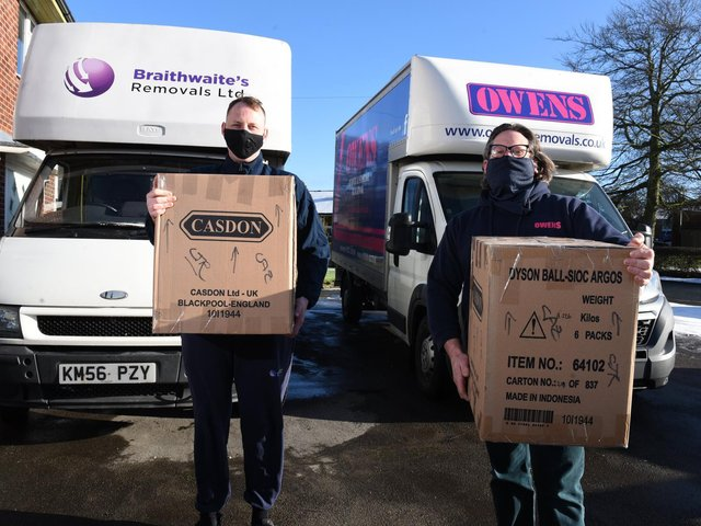 Ben Braithwaite of Braithwaites Removals in Kirkham and Steve Owen of Owen's Removals in Blackpool are hoping for a stamp duty holiday extension in Wednesday's Budget
