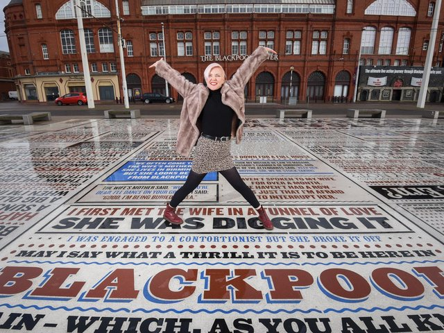 Local comedian, writer and musician Ruth Cockburn on the Comedy Carpet