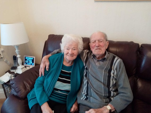 Ted and Brenda Foulkes are celebrating their 70th wedding anniversary today