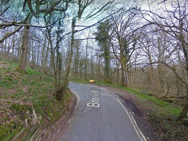 The man crashed in Brock Mill Lane, in the rural Wyre village of Claughton, as he was travelling towards nearby Brock Bottoms Picnic Site at around 3.30pm yesterday (March 1). Pic: Google
