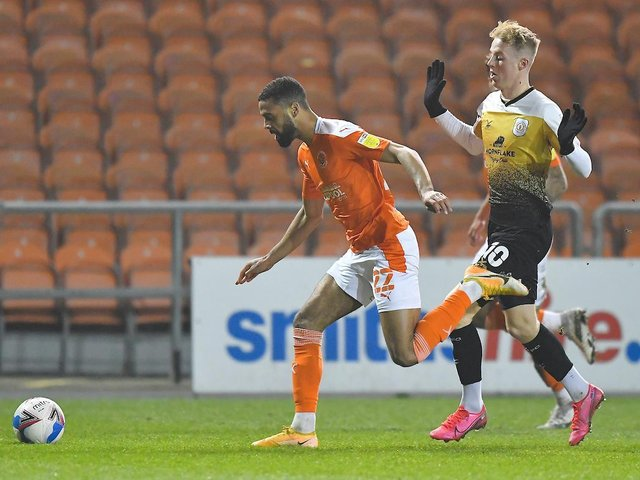 CJ Hamilton returned from injury during Blackpool's 1-1 draw with Crewe