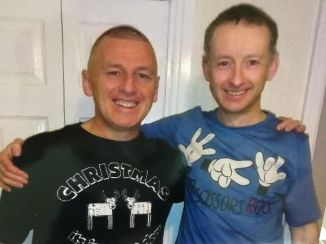 Philip Hurst (left) with brother David