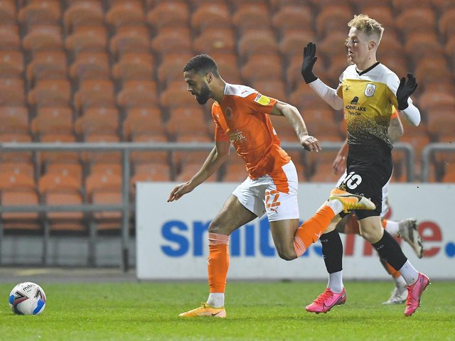 CJ Hamitlon made his return from injury for Blackpool in midweek