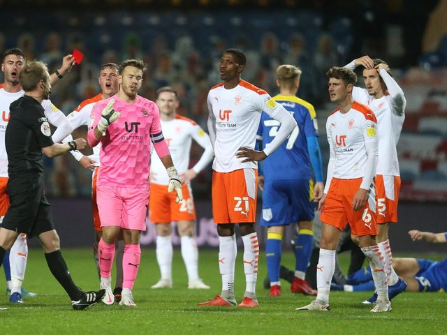 Blackpool saw Ethan Robson and Dan Ballard sent off at AFC Wimbledon earlier in the season