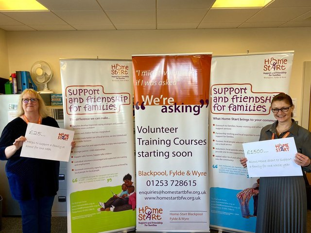 Home-Start Blackpool Fylde and Wyre chief executive Pat Naylor (left) and fund-raising manager Dona Kirkham launch the campaign