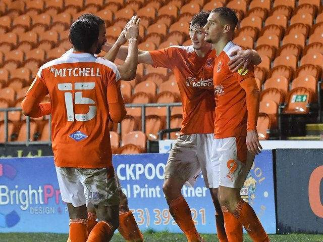 Blackpool hope to be celebrating at home once again this afternoon