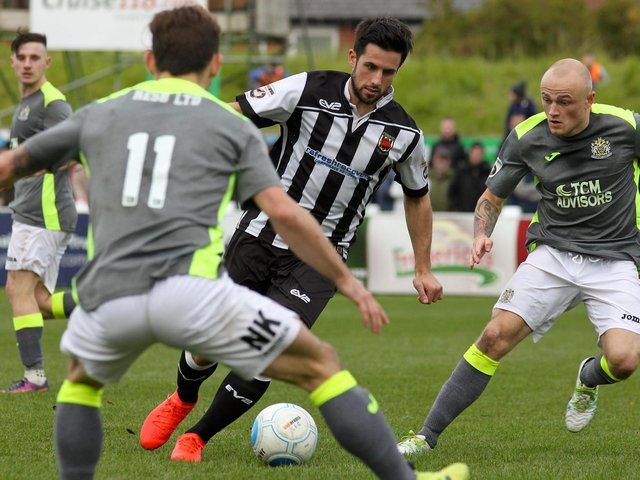 Paul Jarvis in action for Chorley FC