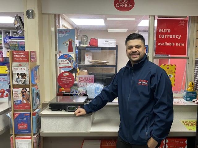 Postmaster Azim Shaikh. See letter from Terry Bennett