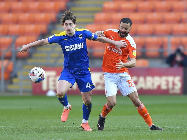 Kevin Stewart was in fine form for Blackpool against the Dons on Saturday