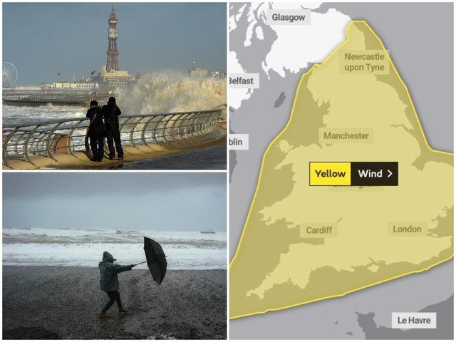 Met Office issues yellow weather warning for 'strong winds' across Lancashire