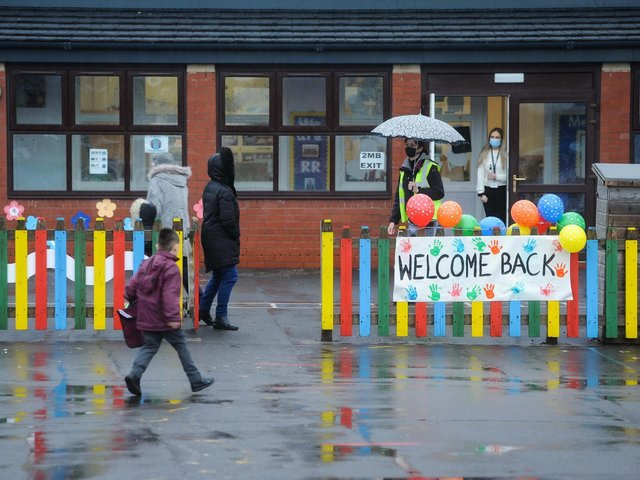 Children are welcomed back to Roseacre Primary Academy