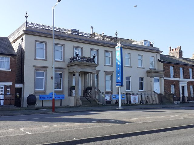 All the scaffolding has been removed to reveal the newly restored Fleetwood Museum