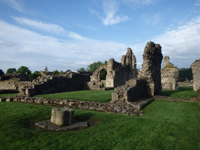 Sawley Abbey, the ruins of the Cistercian abbey close to the River Ribble near Clitheroe ( photo:  © Forest of Bowland AONB)