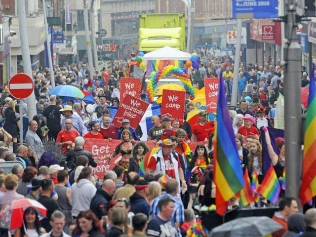 Blackpool Pride festival in pre-Covid-19 days