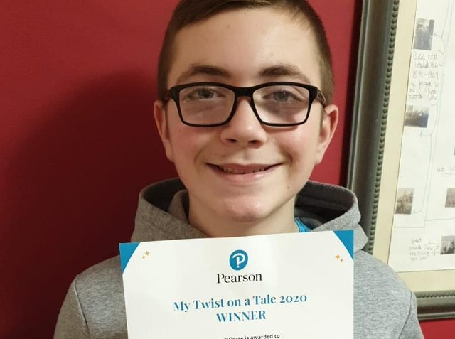 Ethan Scot, 12, was inspired to write 'Little Babcia My Hero' from tales told by his great-grandmother