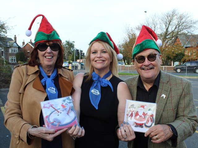 The late comedian Bobby Ball and his wife Yvonne (left) with Kila Redfearn of the Blue Skies Fund at one of of many fund-raising events for the charity in which they were involved