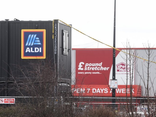 Work has begun on the former Poundstretcher unit in Holyoake Avenue, Bispham, which is set to become an Aldi supermarket. Photo: Daniel Martino/JPI Media