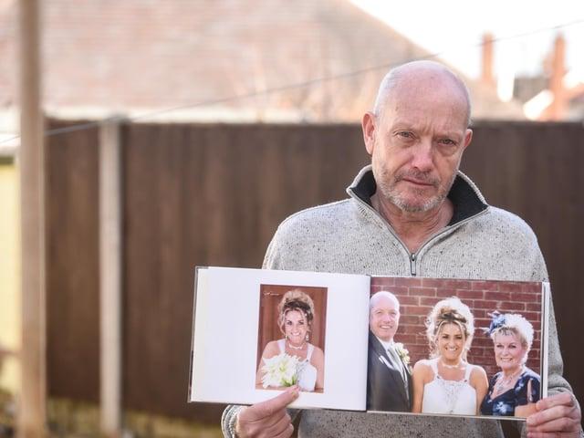 John Blackshaw, whose wife Judith died of asbestos-linked cancer mesothelioma.