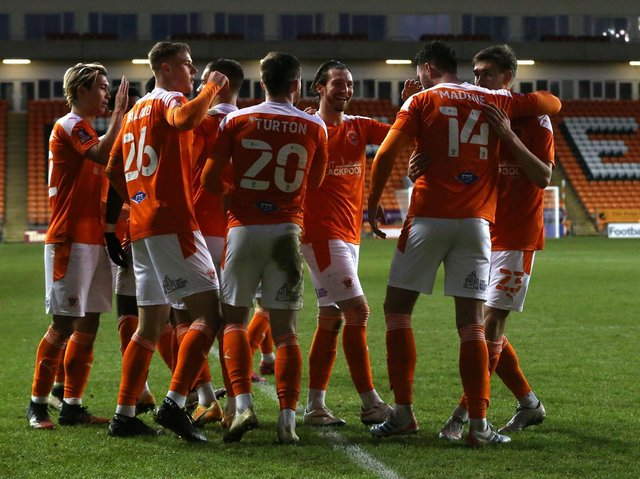 Blackpool go into tomorrow looking to continue their fine form