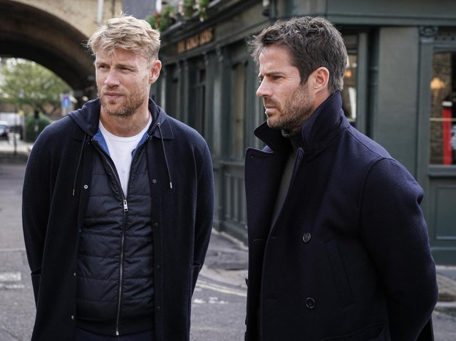 Andrew Flintoff and Jamie Redknapp went on a DNA Journey in ITV's new history show