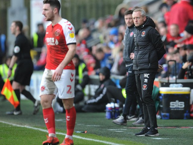 Neil Critch;ey's first game as Blackpool boss was against Fleetwood Town last year