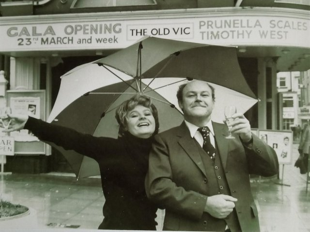 Prunella Scales and Timothy West at the re-opening of The Grand Theatre in Blackpool. Picture: John Lomas