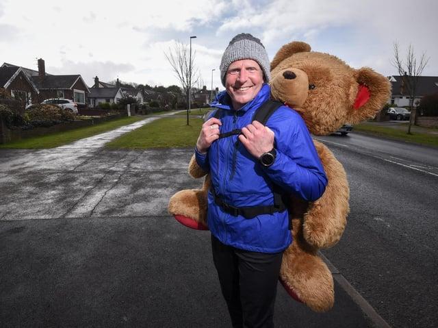 Fundraising champion Paul Howlett is raising money for young carers. Photo: Daniel Martino/JPI Media