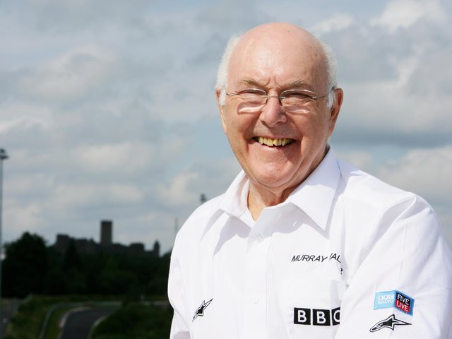 Formula One commentator Murray Walker poses during practice for the European Grand Prix at Nurburgring on July 20, 2007 (Photo by Mark Thompson/Getty Images)