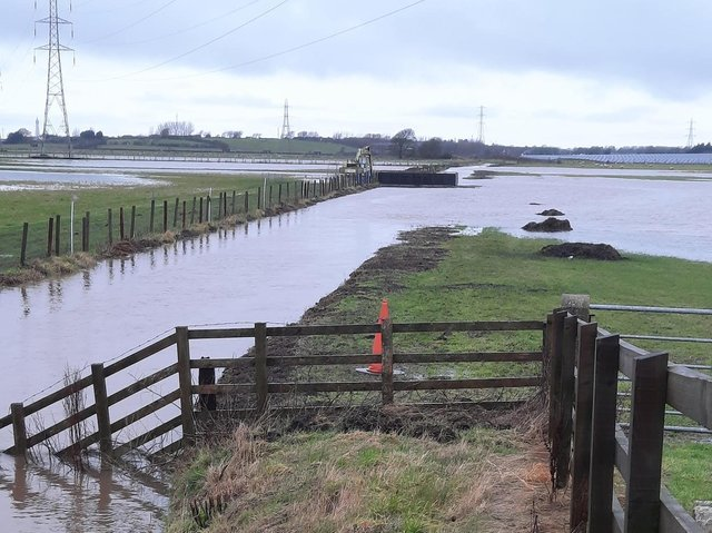 Flooded land in Fylde earlier this year