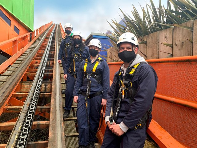 Experience the ups and downs of walking the tracks of  classic wooden rollercoaster Nickelodeon Streak at Blackpool Pleasure Beach