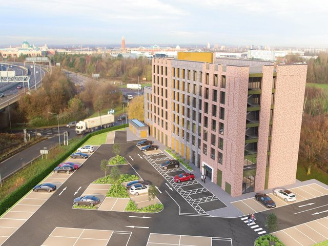 A computer image of how the new Hampton by Hilton in Trafford will look