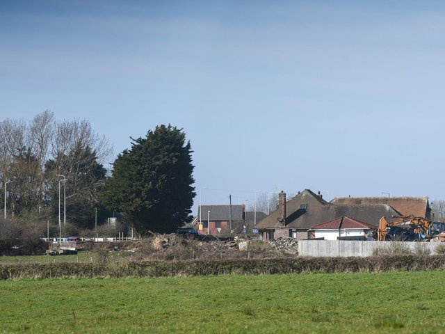 The sorting and recycling processes take place behind the fenced off area at Willow House Farm off Bispham Road (image: Dan Martino)
