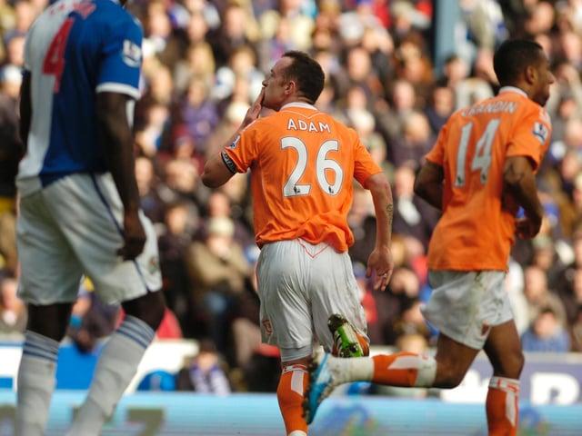 Charlie Adam scored twice as Blackpool drew at Blackburn Rovers