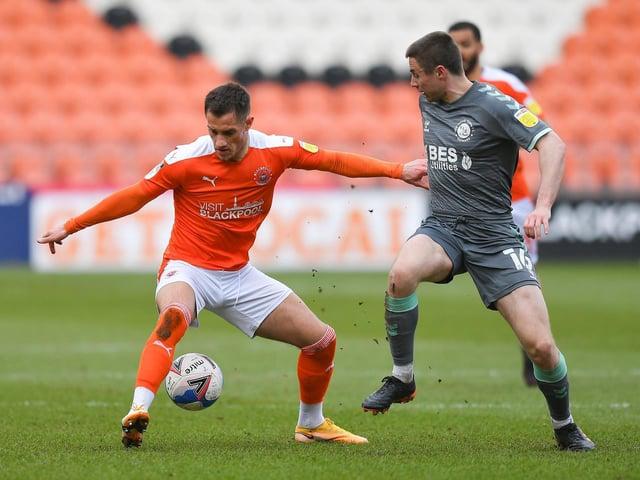Blackpool striker Jerry Yates
