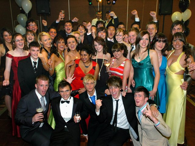 Baines School 6th form leavers ball at the De Vere Hotel, 2008