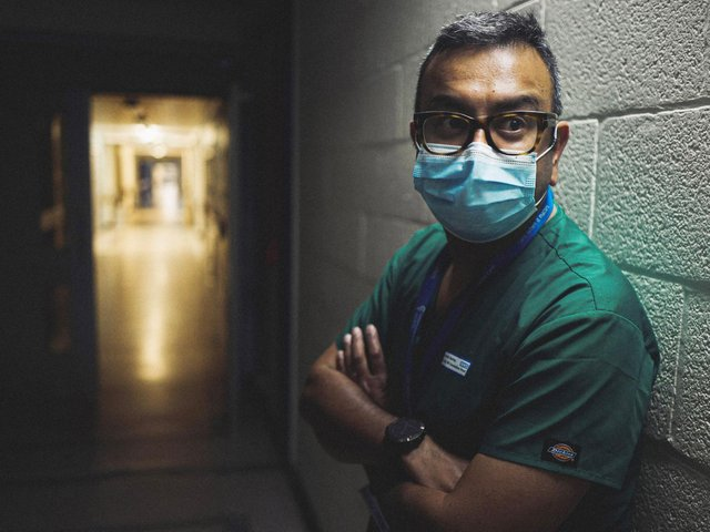 Shond Laha, a critical care consultant at Royal Preston Hospital, featured in an ITV documentary about the Covid crisis