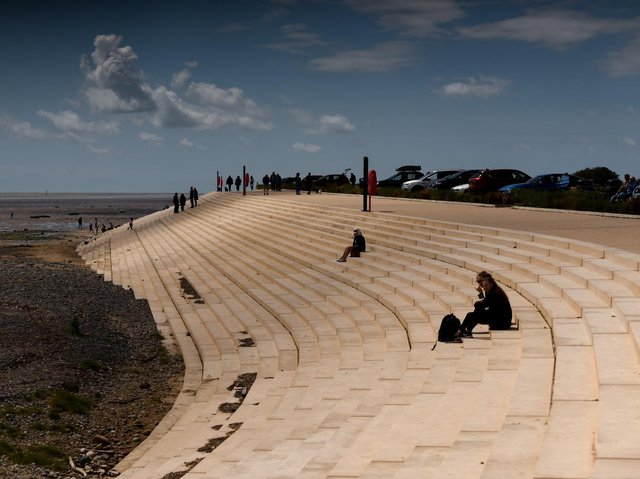 Part of the new sea defences at Fairhaven
